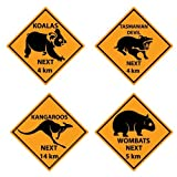 Outback Road Sign Cutouts Package of 4