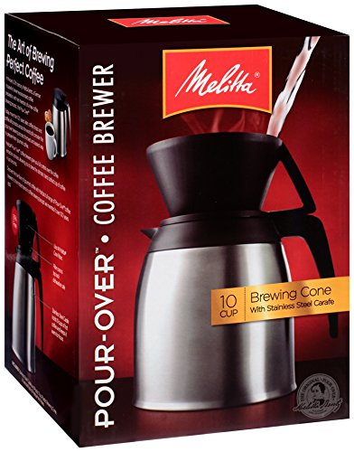 Melitta Coffee Maker, 10 Cup Pour- Over Brewer with Stainless Thermal Carafe (Melitta 10 Thermal compare prices)