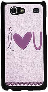 Printvisa 2D-SGSA-D7847 I Love You Case Cover For Samsung Galaxy S Advance I9070