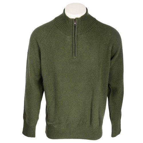 Harbour Collection Men's Racing Green 100% Lambswool 1/4 Zip Neck Jumper In Size XLarge