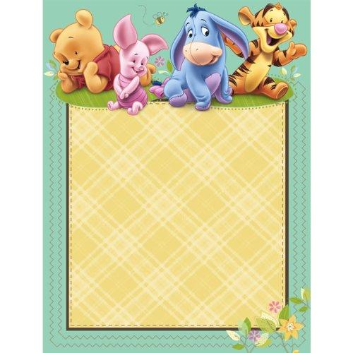 Bebé Pooh Invitaciones Baby Shower - Para imprimir las invitaciones de Winnie Pooh para bebés ducha