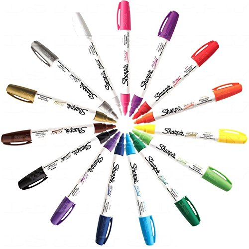 sharpie-paint-marker-medium-point-oil-based-all-15-color-set