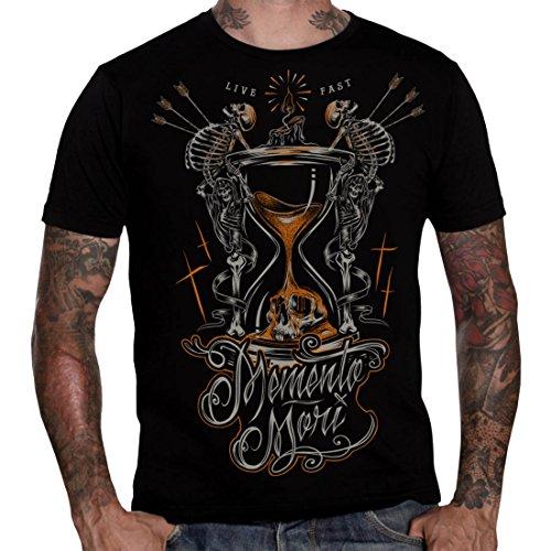 Hyraw -  T-shirt - Uomo nero XXL