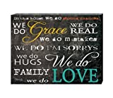 In This House We Do Second Chances We Do Grace Canvas Wall Art