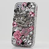 3D Swarovski Silver Crown Crystal Bling Case Cover for iphone 4 / 4s AT&T Verizon & Sprint / 100% Handcrafted by BlingAngels