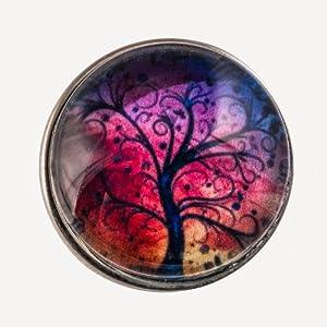 Morella Damen Click-Button Wunder Baum bunte Farben