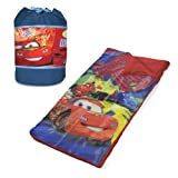 Disney Cars Duffle Slumber Bag includes straps
