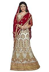 Maroosh Women's White Colour Bollywood style lehenga choli