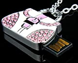 Ricco ® Fashion Jewellery Jewelry USB Flash Pen Drive Disk Memory Purse Handbag with Key Ring Charms Clasp PINK (8GB)
