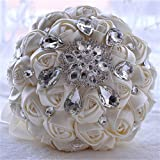 高級手作り ウェディング ブーケ 花嫁ブーケ バラの 造花のブーケ 結婚式造花
