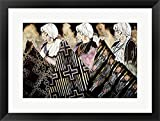 Tres Tejedoras by Amado Pena Jr. Framed Art Print Wall Picture, Black Frame with Hanging Cleat, 25 x 19 inches
