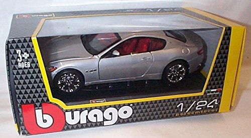 burago-silver-maserati-gran-turismo-car-124-scale-diecast-model
