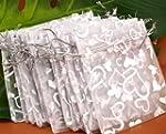 SODIAL(R) 25X Silver Organza Wedding...