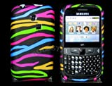 Goldstar Rainbow Zebra Flowers Silicone Gel Case Cover For Samsung Ch@t335 Chat S3350