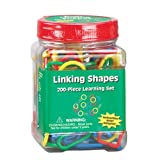 "Eureka Tub Of Linking Shapes, 200 Links in 3 3/4"" x 5 1/2"" x 3 3/4"" Tub"