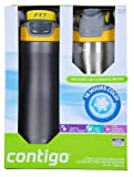 Contigo 2 Pack Vacuum-Insulated Stainless Steel Water Bottles Gray & Yellow/Silver