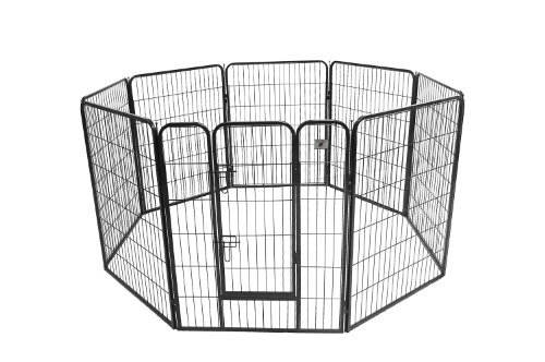 "BestPet® Hammertone Finish 40"" Heavy Duty Pet Playpen Dog Exercise Pen Cat Fence S"