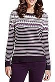 Per Una Fair Isle & Striped Knitted Top [T62-9595H-S]