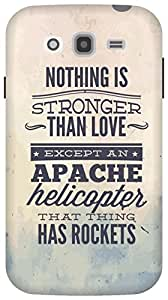 The Racoon Grip Apache Helicopter hard plastic printed back case/cover for Samsung Galaxy Grand Neo