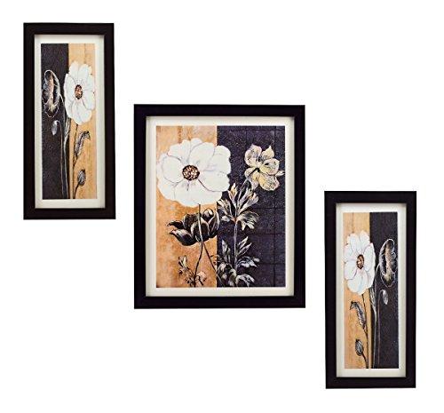 3 PIECE SET OF FRAMED WALL HANGING ART - B01B97FWG4