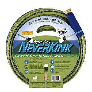 Apex AquaPure Neverkink Eco-Smart and Family Safe Garden Hose 9/16-Inch x 75-Foot 6612-75 (Discontinued by Manufacturer)