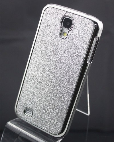 Big Dragonfly High Quality Silver Bling Glitter Shimmer Hard Back Case Skin Cover For Samsung Galaxy S4 Siv I9500 Exquisite Retail Package Durable & Pretty (Color Varies) front-923503