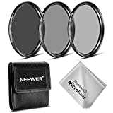 Neewer® 77MM ND Filter Set (ND2 ND4 ND8) + Microfiber Cleaning Cloth for the CANON EF 24-105mm f/4 L IS USM Zoom Lens, the NIKON 28-300mm f/3.5-5.6G ED VR II AF-S Zoom Lens