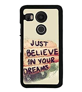 Life Quote 2D Hard Polycarbonate Designer Back Case Cover for LG Nexus 5X :: LG Google Nexus 5X New