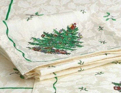 Spode Christmas Tree Cloth Napkins, Set of 4! 4 Spode Christmas Tree