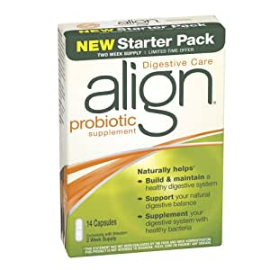 Align Digestive Care Probiotic Supplement New Starter Pack, 14 Capsules