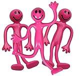 StressCHECK 3 x Hombre Elastico Rosa Flexible Socorro de Estrés ADHD Autismo