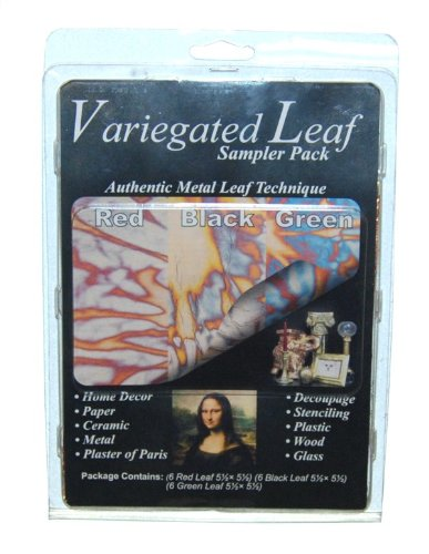 Speedball Mona Lisa Variegated Leaf Sampler Pack, 18 Sheet Pack