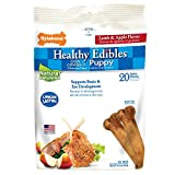 Nylabone Healthy Edibles Petite Lamb and Apple Flavored Puppy Dog Treats, 20 Count