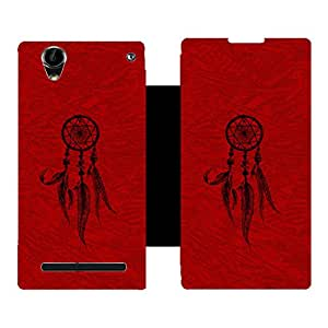 Skintice Designer Flip Cover with Vinyl wrap-around for Sony Xperia T2 / T2 Ultra, Design - dream catcher