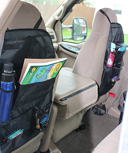 Back seat organizer auto travel interior accessories for Car interior storage solutions