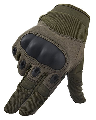 Simplicity Men Women's Cycling Motorcycle Gloves Mittens, Show Finger Army L