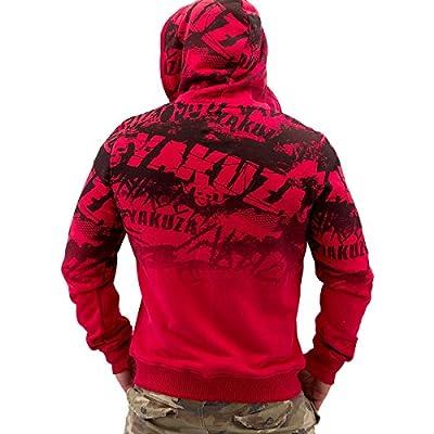 Yakuza ORIGINAL Zip Hoodie HZB 490 - ribbon red