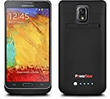 PowerBear® Samsung Galaxy NOTE 3 (Note III) Rechargeable Battery Case - Black (Up to 225% Battery Power) FREE Screen Protector Included