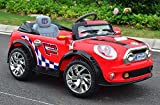12V MINI-COOPER Ride On Car Power Wheel Kids W/ MP3 Remote Power Control RC Red Big Motors New Upgraded With 2 Motors & 6V 10Ah Battery