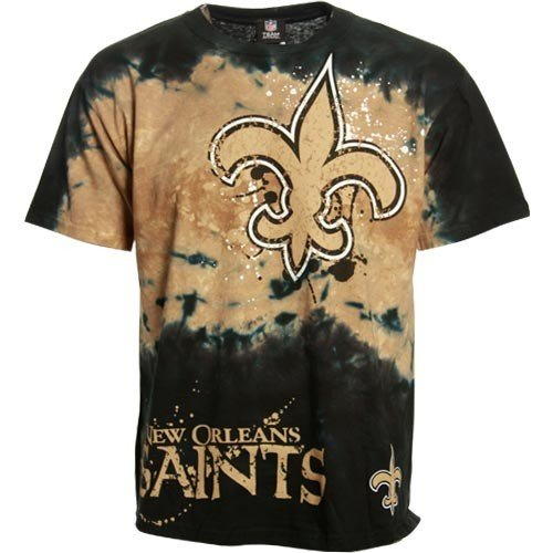 New Orleans Saints Black Fade Tie Dye T Shirt
