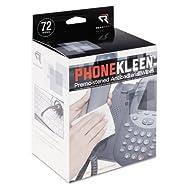 PhoneKleen Wet Wipes, Cloth, 5 x 5, 72/Box
