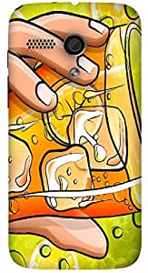 Significant multicolor printed protective REBEL mobile back cover for Motorola Moto G (2014) 1st Gen D.No.N-L-14784-MG1