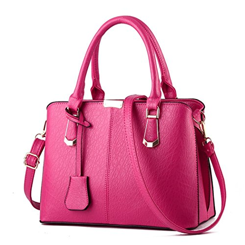 Ryse Womens Fashionable Classic Retro Noble Temperament Handbag Shoulder Bag(Pink)