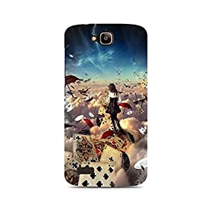 MOBICTURE Girl Abstract Premium Designer Mobile Back Case Cover For Huawei Honor Holly