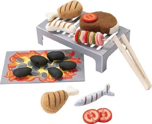 Bbq Grill Set Sizzle Expert - Haba Play Food By Haba