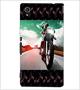 PrintDhaba Bike D-4733 Back Case Cover for SONY XPERIA M4 AQUA (Multi-Coloured)