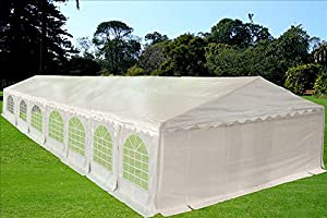 46'x20' PE Tent White - Heavy Duty Party Wedding Canopy Carport Shelter - By DELTA Canopies