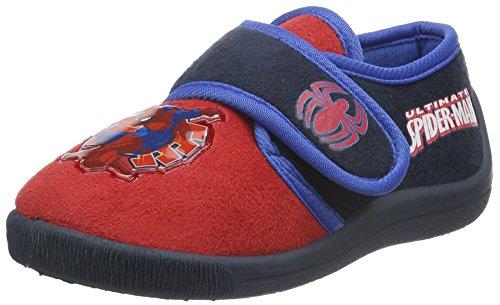 SpidermanBoys Kids Velcro low Houseshoes - Ciabatte non imbottite Bambino , Rosso (Rot (Red/NAV/Cbl 352)), 28