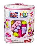Mega Bloks First Builders Big Building Bag, 80-Piece (Pink)