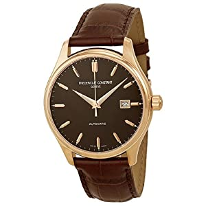 Frederique Constant Clear Vision Automatic Brown Dial Rose Gold-Tone Mens Watch 303C5B4 from Frederique Constant
